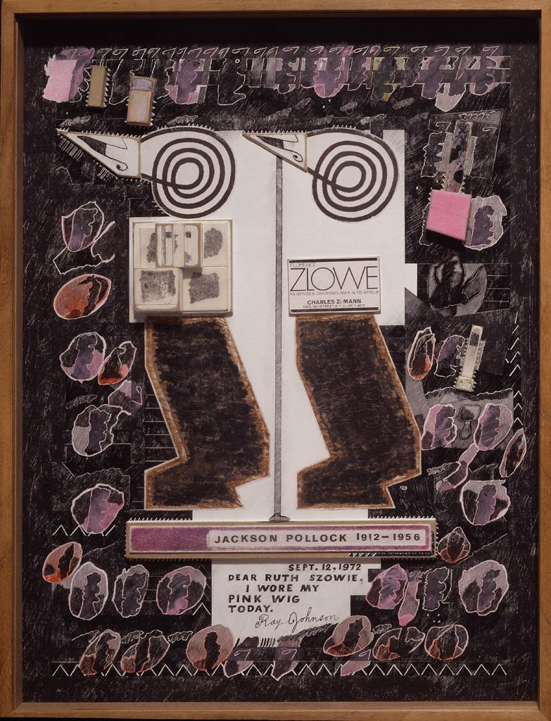 Ruth Szowie, c. 1972, by Ray Johnson, Photomechanical reproduction and inked and painted paperboard