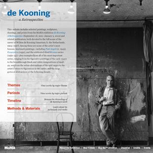Willem de Kooning MoMa Site