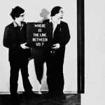 Douglas Davis, Vitaly Komar, and Alexander Melamid (Questions New York Moscow New York Moscow, Set) Where is the Line Between Us*, 1976