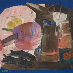 Fernando Botero Still Life on Blue