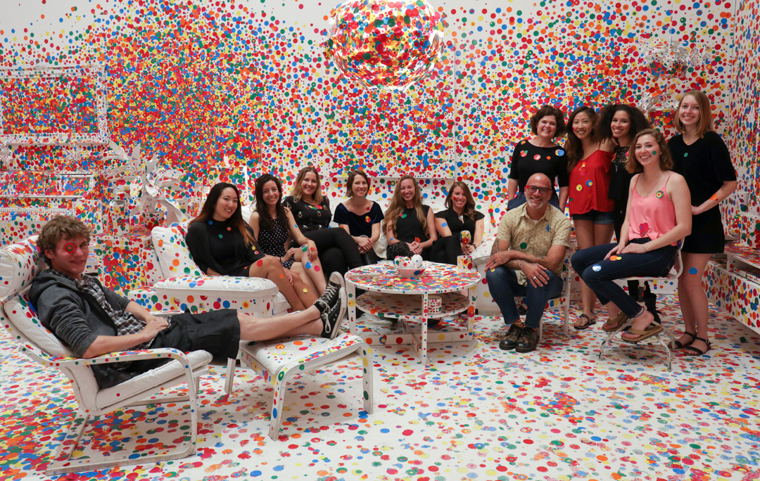 Gallery Guides in Obliteration Room