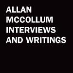 Allan McCollum Interviews