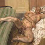 "Lucian Freud, ""Nude with Leg Up (Leigh Bowery),"" 1992"