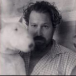 Julian Schnabel with dog
