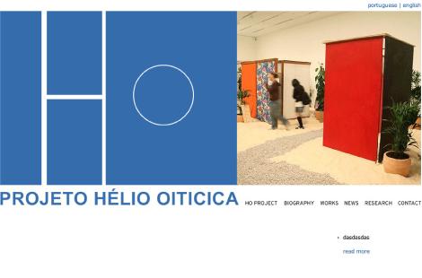 Hélio Oiticica Website