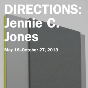 Directions: Jennie C. Jones on view May 16 to October 27, 2013
