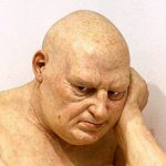 "Detail of Ron Mueck. ""Untitled (Big Man),"" 2000"