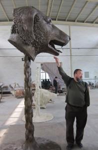 Ai Weiwei Zodiac Dog Head