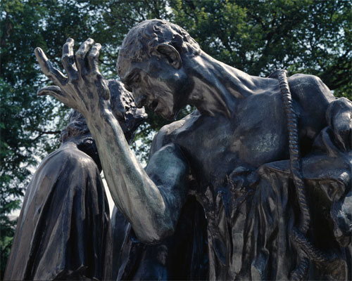 Detail of Auguste Rodin's Burghers of Calais