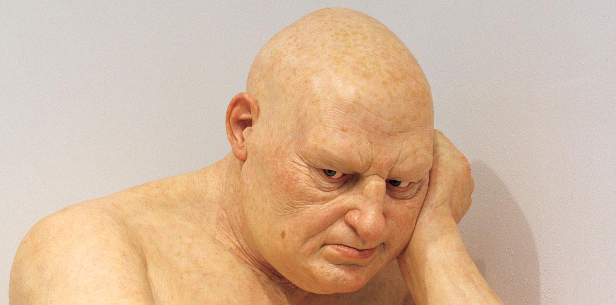 Ron Mueck's Big Man (detail)