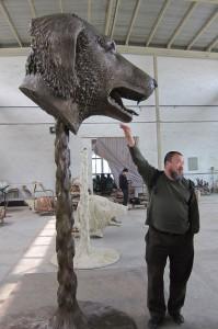 Ai Weiwei with Zodiac Head
