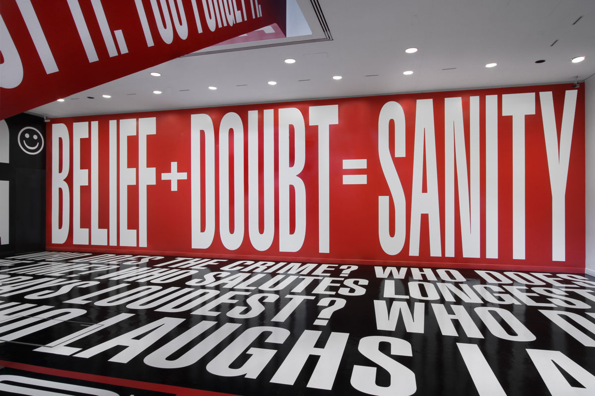 Barbara Kruger: Belief+Doubt Exhibition Shot
