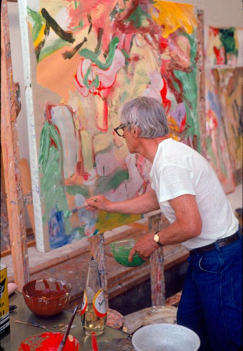 De Kooning in his studio.