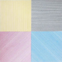 "LeWitt, Sol. ""Lines in two directions and in five colors on five colors with all their combinations"""