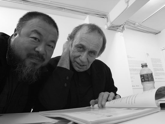Vito Acconci and Ai WeiWei