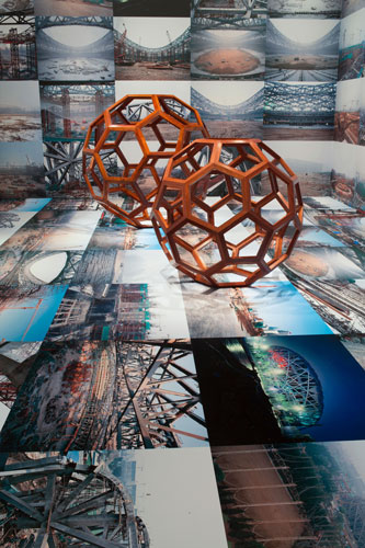 "Ai Weiwei, ""Beijing's 2008 Olympic Stadium,"" 2005-08; ""Divina Proportione,"" 2006; ""F-Size,"" 2011"