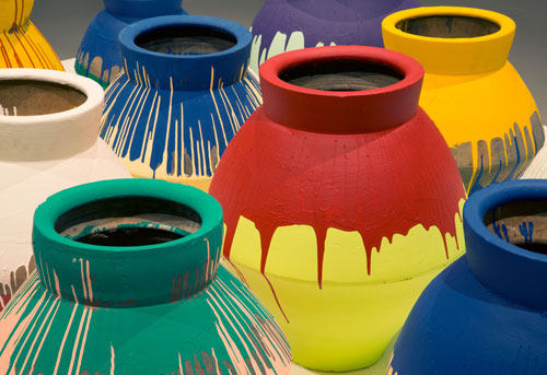 "Ai Weiwei, ""Colored Vases,"" 2007-2010"