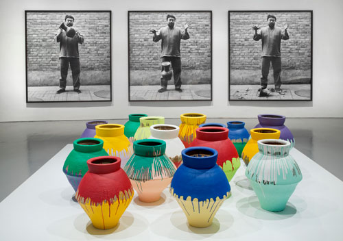 "Ai Weiwei, ""Dropping a Han Dynasty Urn,"" 1995/2009; ""Colored Vases,"" 2007-2010"