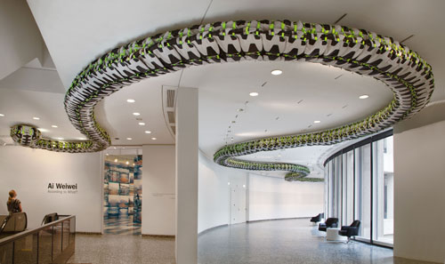 """Ai Weiwei, """"Snake Ceiling,"""" 2009"""