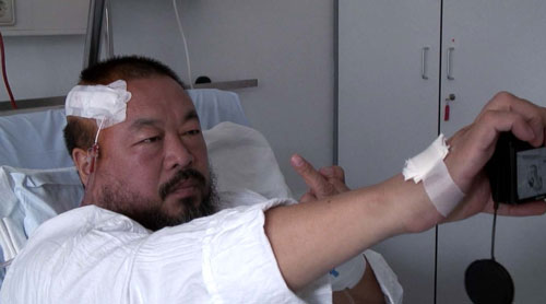 "Still from Ai Weiwei's ""So Sorry,"" 2011"