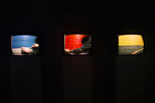 "Jaime Davidovich, ""Blue, Red, Yellow,"" 1974"