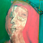 """Detail image of Willem de Kooning's """"Queen of Hearts"""""""