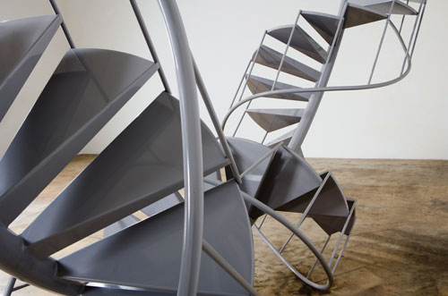"Peter Coffin, ""Untitled (Spiral Staircase),"" 2007. Courtesy of the artist and the Holzer Family Collection"
