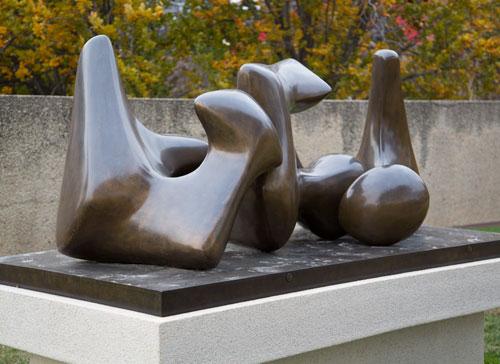 "Henry Moore, ""Three-Way Piece No. 3: Vertebrae (Working Model),"" 1968, cast early 1969"