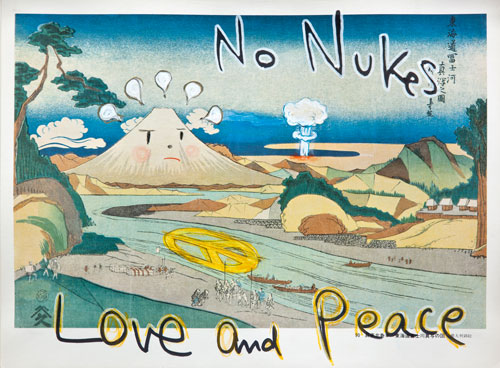 Yoshitomo Nara, 'No Nukes (in the floating world),' 1999. Courtesy of Eileen Harris Norton.