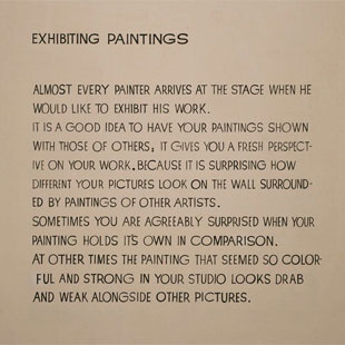 "John Baldessari, ""Exhibiting Paintings,"" 1967-1968"