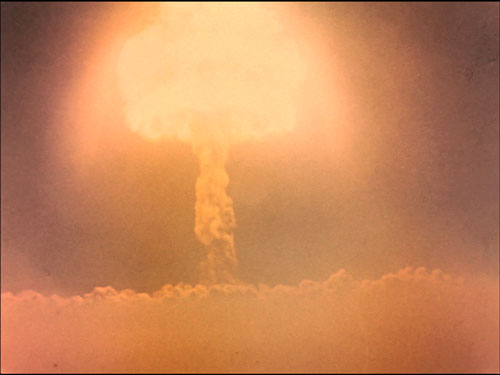 Harold Edgerton, still from Photography of Nuclear Detonations, 1950