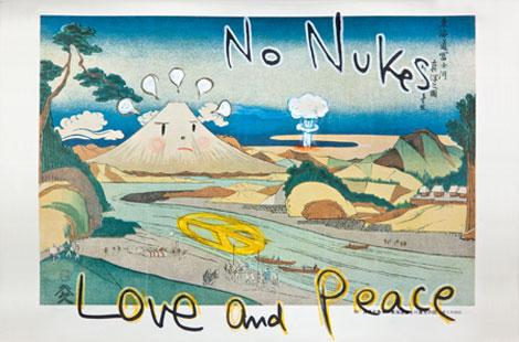 Yoshitomo Nara, No Nukes (in the floating world), 1999. Courtesy of Eileen Harris Norton.
