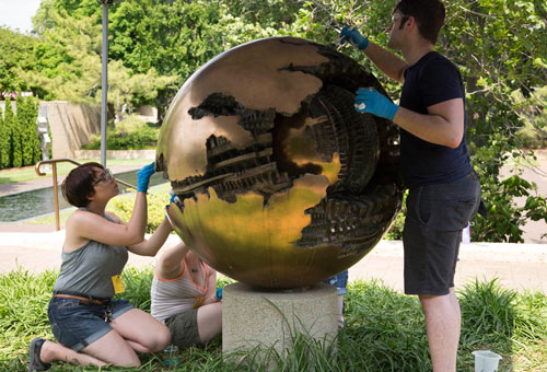 "Conservation of Arnaldo Pomodoro's ""Sphere No. 6 (Sphere within a Sphere),"" 1963-1965"
