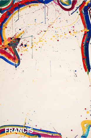 Sam Francis, Untitled (Mako's Rain), 1965. © Estate of Sam Francis/Artists Rights Society (ARS), New York. Hirshhorn Museum and Sculpture Garden, Smithsonian Institution, Washington DC