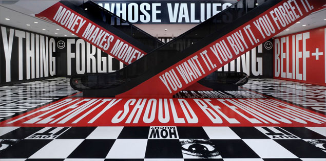 Barbara Kruger, Belief+Doubt, 2012. © Barbara Kruger. Photo: Cathy Carver