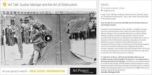 Art Talk: Gustav Metzger and the Art of Destruction