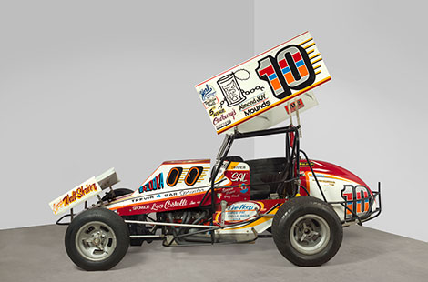 Salvatore Scarpitta, Trevis Race Car (Sal Gambler Special), 1985. Hirshhorn Museum and Sculpture Garden, Smithsonian Institution, Washington DC. Gift of Stella Alba Cartaino and Gregory O'Neill, 2014. Photo: Lee Stalsworth