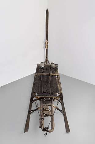 Salvatore Scarpitta, Cot and Lock Step n. 2 Cargo, 1989–2000 and Osoppo '44, 1990. Hirshhorn Museum and Sculpture Garden, Smithsonian Institution, Washington DC. Gift of Luca Patrizio DiBenedetto, 2013. Photo: Cathy Carver