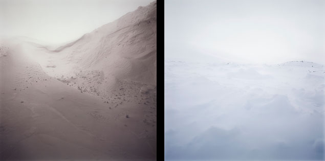 Darren Almond, Arctic Plate 1 and Arctic Plate 6, 2003