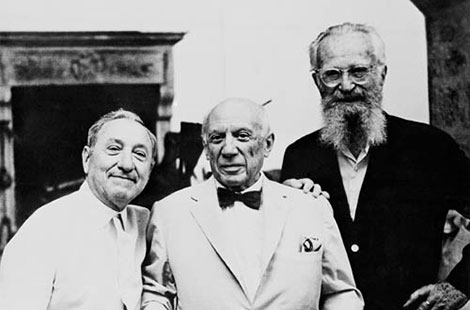Joseph H. Hirshhorn with Pablo Picasso and Edward Steichen