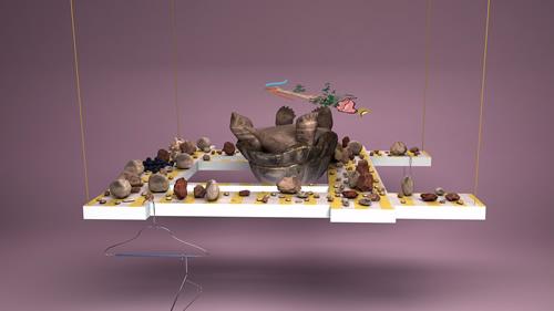 Helen Marten, Still from Orchids, or a Hemispherical Bottom, 2013