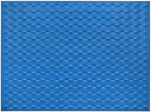 Enrico Castellani, Blue Surface 5, 1964