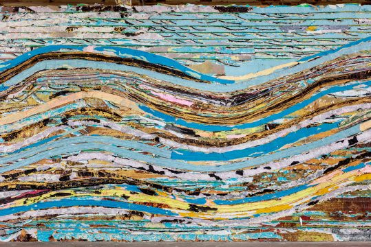 Mark Bradford, Pickett's Charge (The High-Water Mark) (detail), 2016-2017. Mixed media. Courtesy of the artist and Hauser & Wirth. Photo: Joshua White.