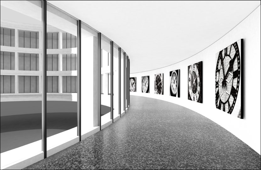 Digital rendition of Bettina Pousttchi exhibit view