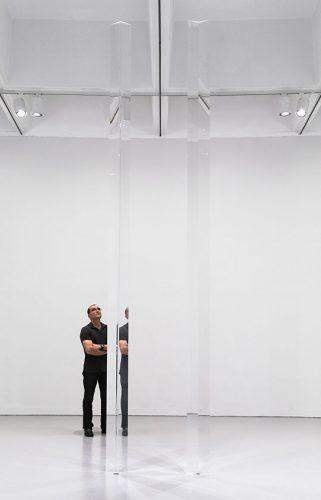 Robert Irwin Installation View of Columns