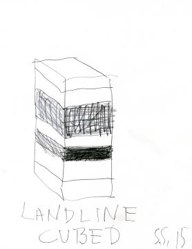 Sean Scully, Landline Cubed, 2015. Graphite on paper. 11 × 8½ in. (27.9 × 21.6 cm). Private collection. © Sean Scully, Scanned by Neo Neo Inc.