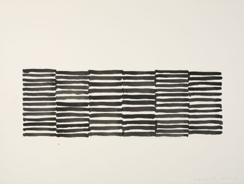 Sean Scully, 4.13, 2013. Watercolor on paper. 22 ½ × 30 in. (57.2 × 76.2 cm). Private collection. © Sean Scully, Photographed by Robert Bean