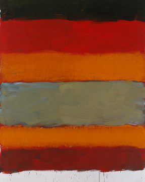 Sean Scully, Landline Zacatecas, 2015. Oil on aluminum. 98 ½ × 78 ¾ in. (249.9 × 199.9 cm). Private collection. © Sean Scully, Photographed by Robert Bean