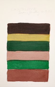 Sean Scully, Landline 10.9.06, 2006. Watercolor on paper. 22 ¼ × 14 in. (56.5 × 35.6 cm. Private collection. © Sean Scully, Photographed by Michael Bodycomb