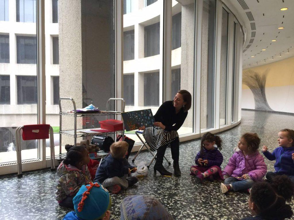 Tiffany McGettigan and children. STORYTIME+